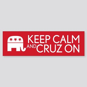 Keep Calm and Cruz On Bumper Sticker