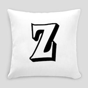 Action Monogram Z Everyday Pillow