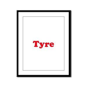 Tyre Framed Panel Print