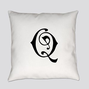 Royal Monogram Q Everyday Pillow