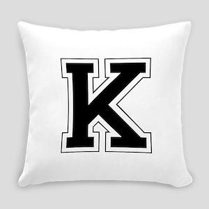 Collegiate Monogram K Everyday Pillow