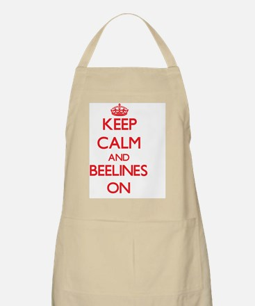Keep Calm and Beelines ON Apron