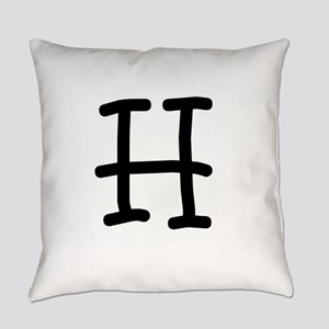 Bookworm Monogram H Everyday Pillow