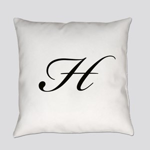 Bickham Script Monogram H Everyday Pillow