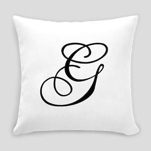 Champagne Monogram G Everyday Pillow