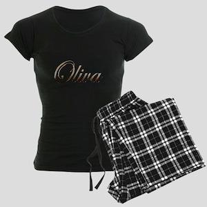 Gold Oliva Women's Dark Pajamas