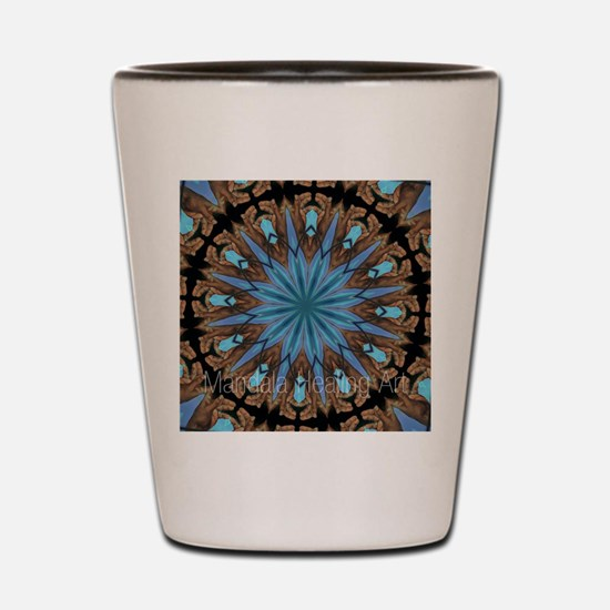 Reiki Mandala Shot Glass