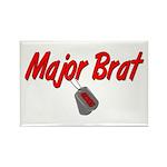 USCG Major Brat Rectangle Magnet (100 pack)