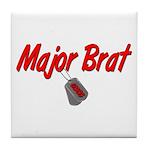 USCG Major Brat Tile Coaster