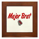 USCG Major Brat Framed Tile
