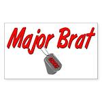 USCG Major Brat Rectangle Sticker