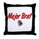 USCG Major Brat  Throw Pillow