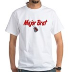 USCG Major Brat White T-Shirt
