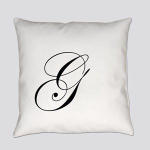 Edwardian Script-G Everyday Pillow