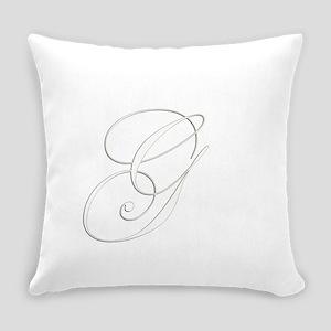 Edwardian Script-G White Everyday Pillow