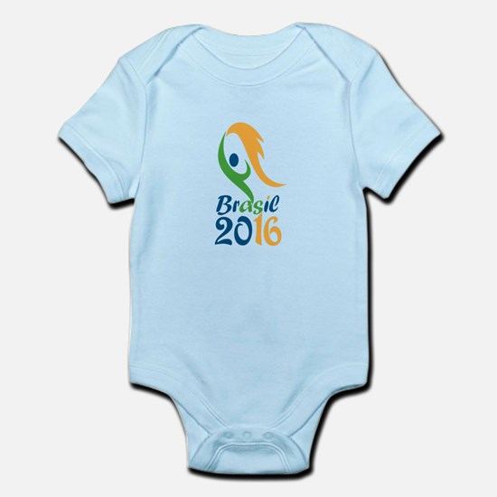 Brasil 2016 Flames Summer Games Body Suit