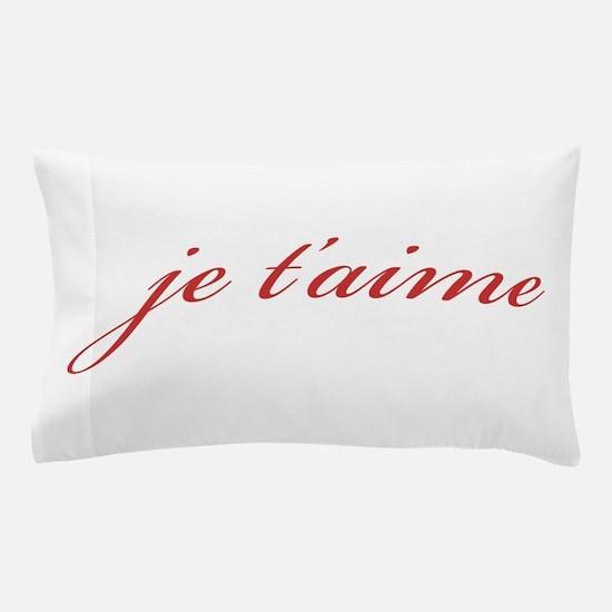 Je T-aime Pillow Case