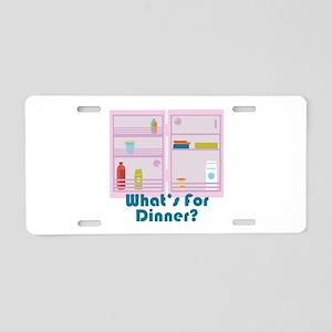 Whats For Dinner? Aluminum License Plate