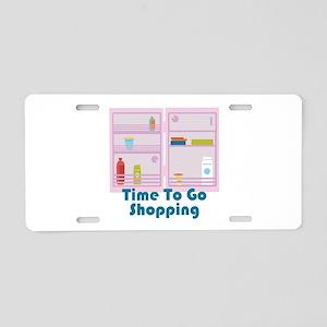 Go Shopping Aluminum License Plate