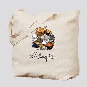 Ailurophile; Cat lover Tote Bag