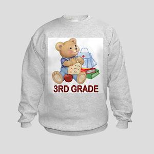 School Days Teddy - 3rd Grade Kids Sweatshirt