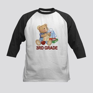 School Days Teddy - 3rd Grade Kids Baseball Jersey