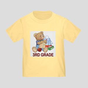 School Days Teddy - 3rd Grade Toddler T-Shi
