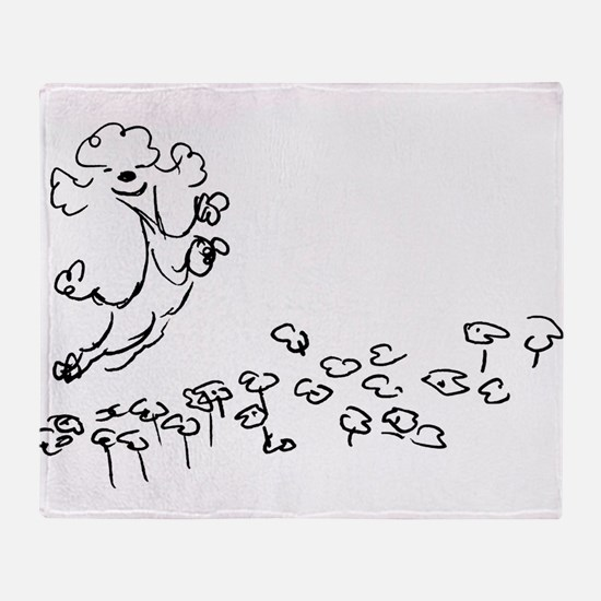 Cool Whimsical poodle Throw Blanket