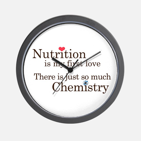 Nutrition Chemistry Wall Clock