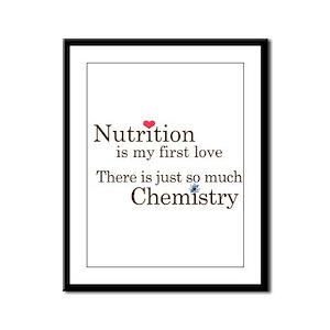 Nutrition Chemistry Framed Panel Print