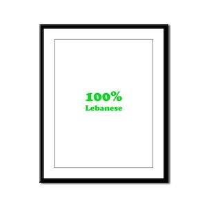 100% Lebanese Framed Panel Print