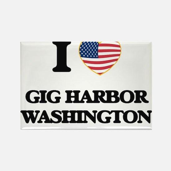 I love Gig Harbor Washington Magnets