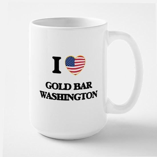 I love Gold Bar Washington Mugs