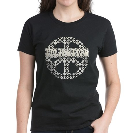 World Peace Imagine Women's Dark T-Shirt