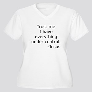 Trust Me... Jesus Women's Plus Size V-Neck T-Shirt