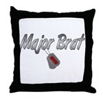 USCG Major Brat ver2  Throw Pillow