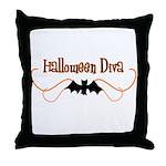 Halloween Diva Throw Pillow
