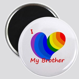 I Heart My Brother - Pride Magnet