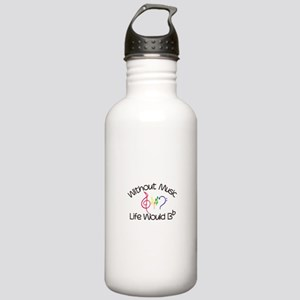 Without Music Water Bottle