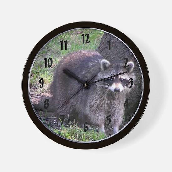 Raccoon Clock Wall Clock