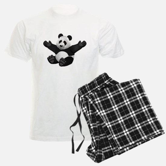 3D Fluffy Panda Bear Pajamas