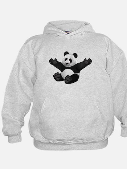 3D Fluffy Panda Bear Hoodie