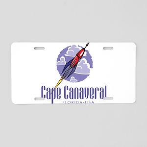 Cape Canaveral Aluminum License Plate