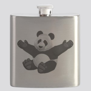 3D Fluffy Panda Bear Flask
