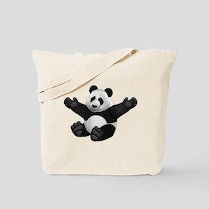 3D Fluffy Panda Bear Tote Bag