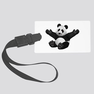 3D Fluffy Panda Bear Luggage Tag