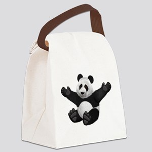 3D Fluffy Panda Bear Canvas Lunch Bag