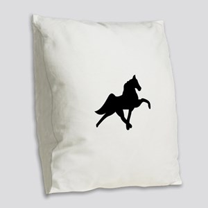 Tennessee Walker Burlap Throw Pillow