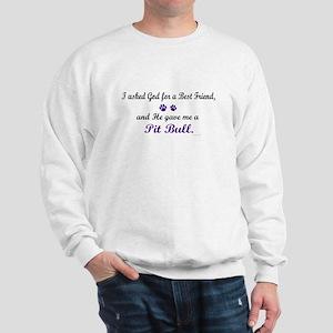 God Gave Me A Pit Bull Sweatshirt