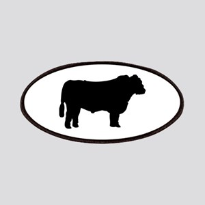 Black Angus Silhouette Patch